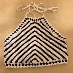 Crochet knit halter top